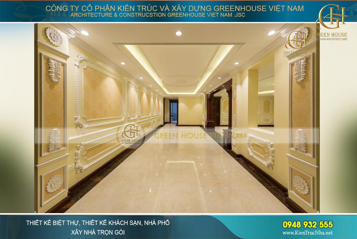 Thi công nội thất trọn gói cho biệt thự tân cổ điển 400m2