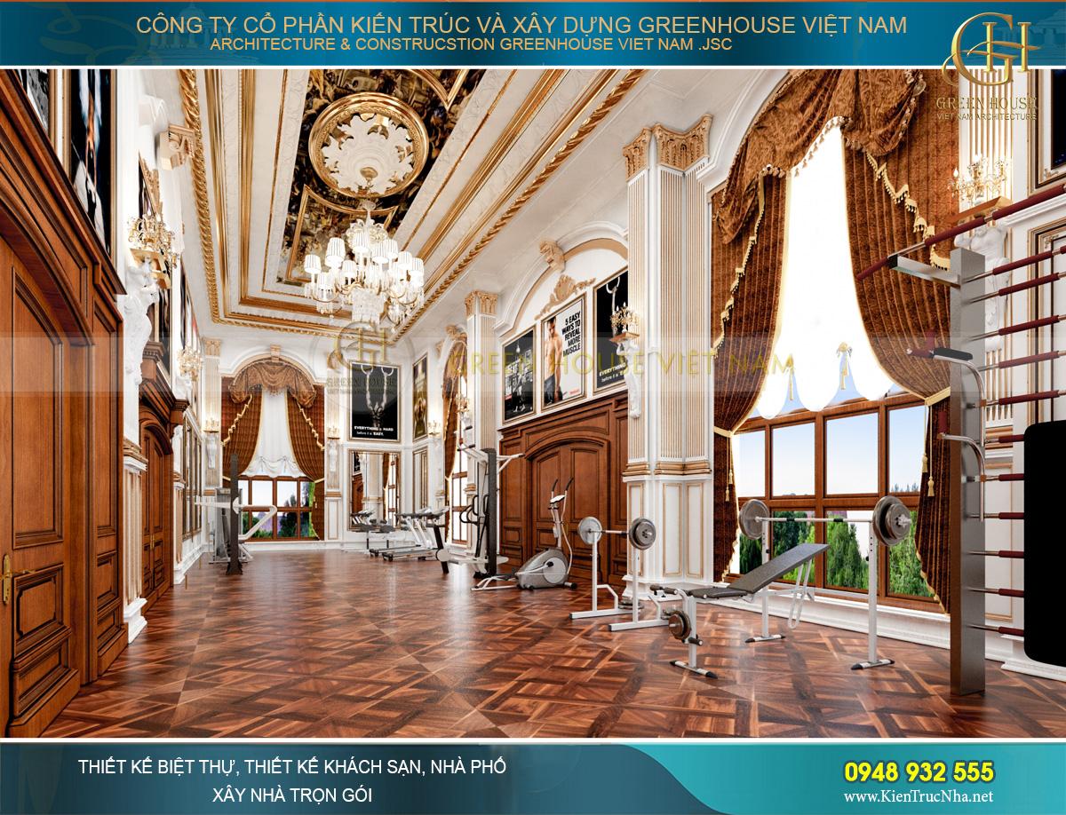 thiết kế nội thất lâu đài cổ điển Pháp 7 tầng diện tích 32000m2