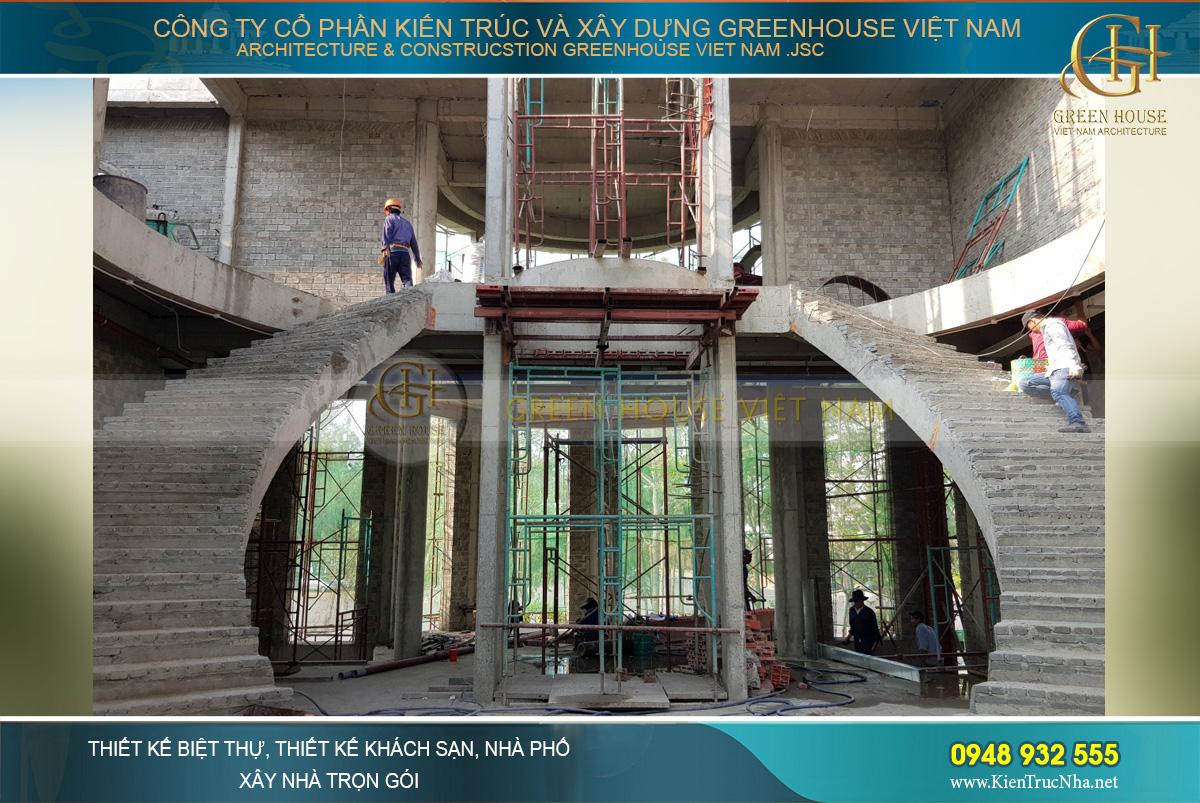 thi công trọn gói biệt thự cổ điển Rạng Đông tại Phan Thiết
