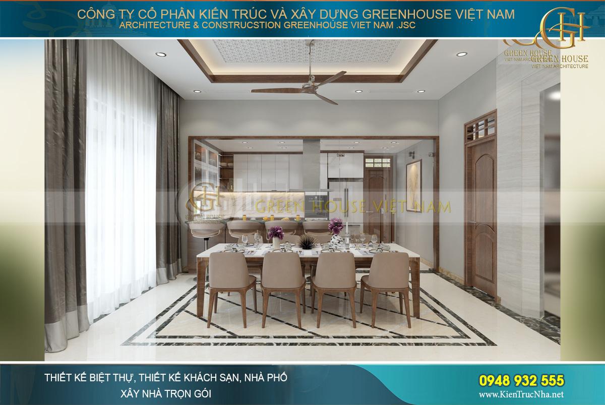 thiết kế nội thất biệt thự hiện đại 3 tầng