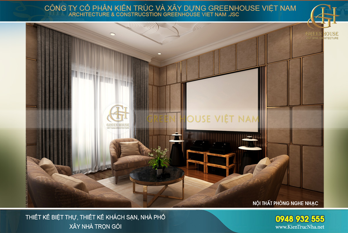 thiết kế nội thất biệt thự tân cổ điển 3 tầng tại hải phòng