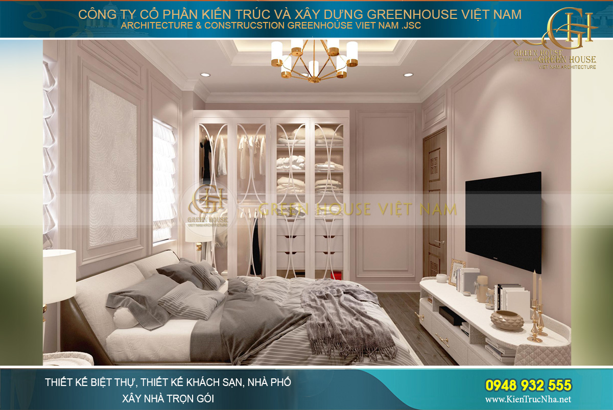 Thiết kế nội thất biệt thự tân cổ điển phong cách Hollywood tại Hải Phòng