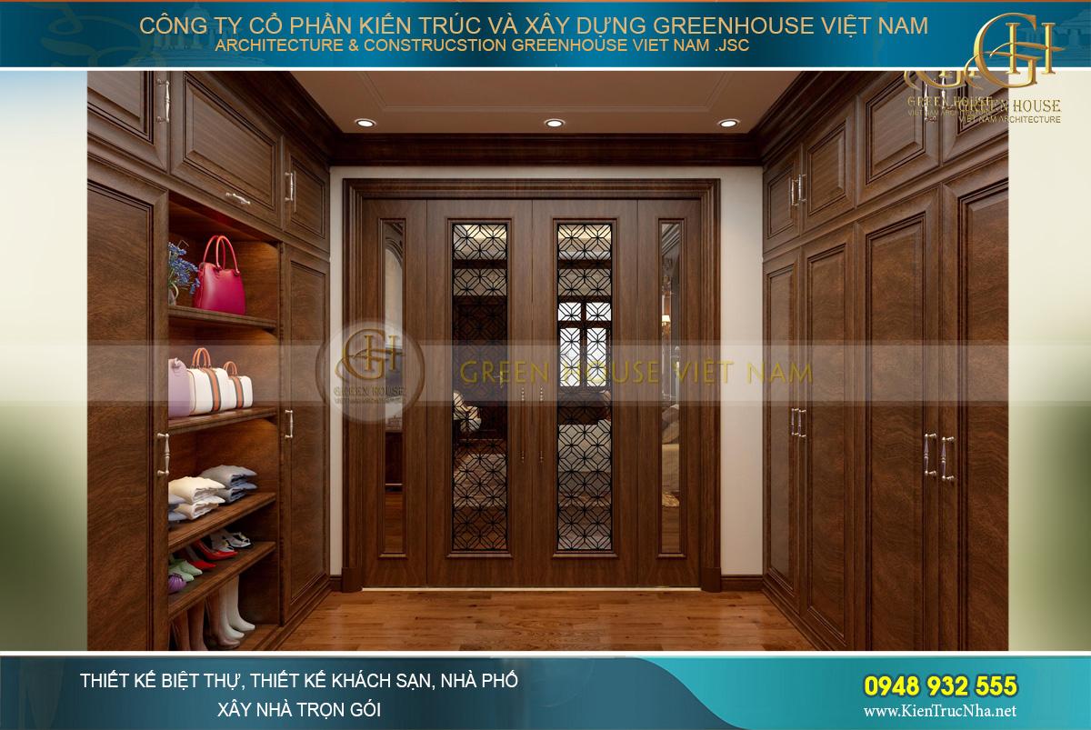 thiết kế nội thất biệt thự tân cổ điển 4 tầng bắc giang