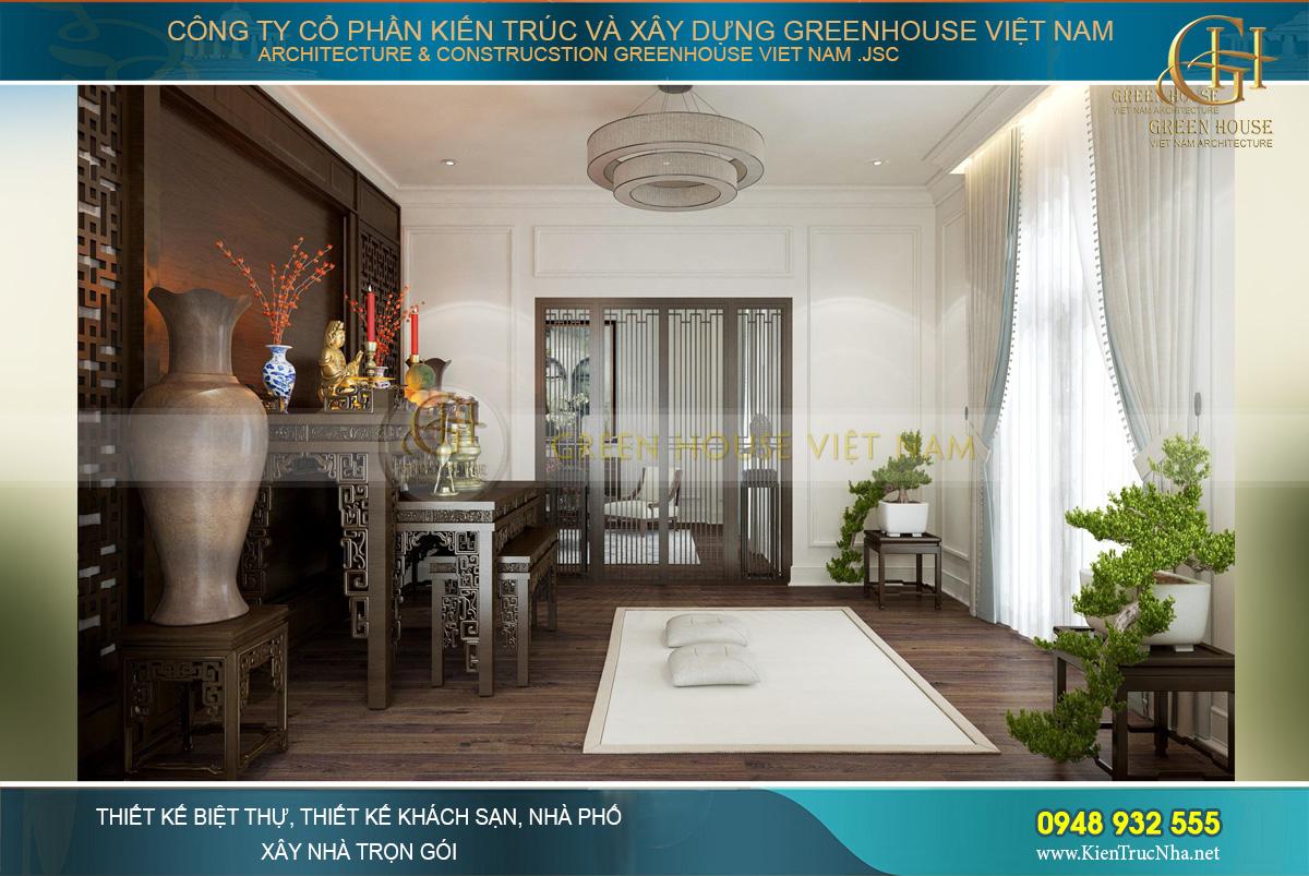 thiết kế nội thất biệt thự tân cổ điển 3 tầng tại Quảng Ninh