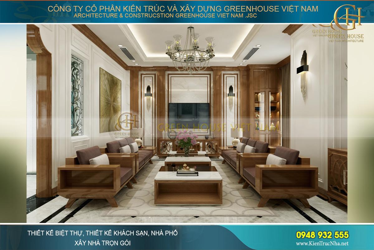 thiết kế nội thất biệt thự tân cổ điển á đông hải phòng