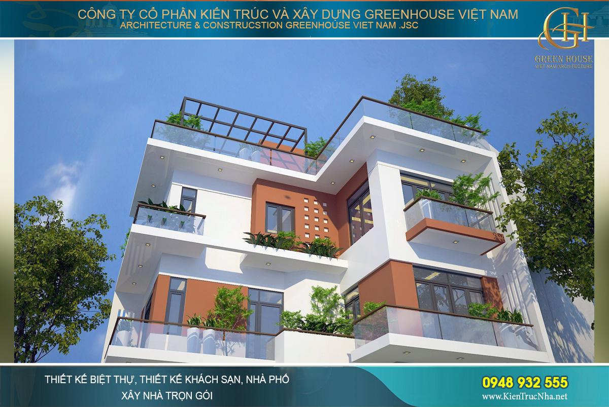 mẫu nhà phố hiện đại 4 tầng mặt tiền 8m