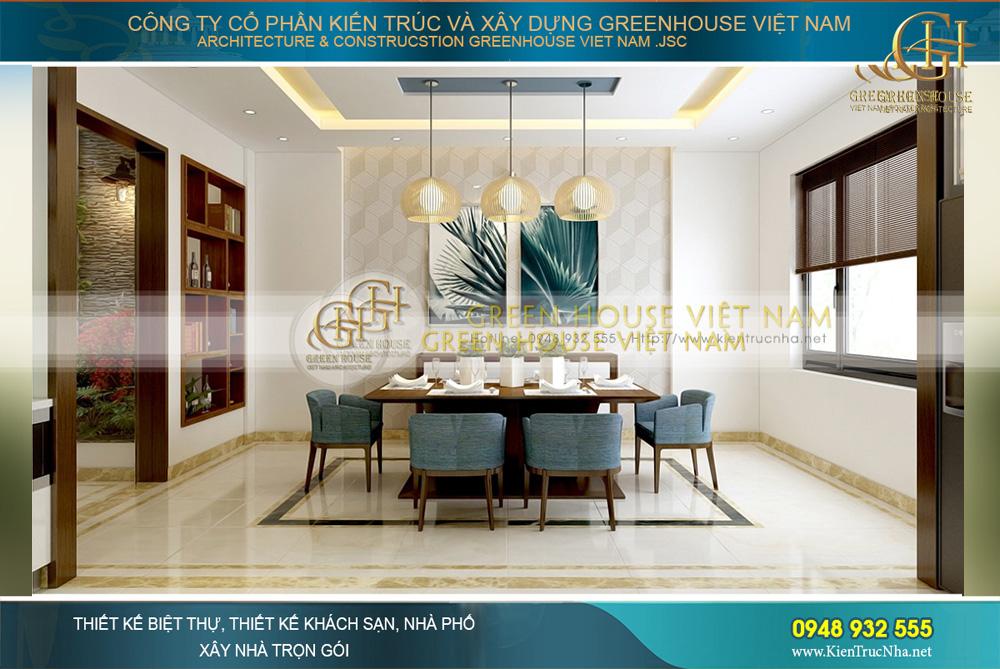 Thiết kế nội thất nhà ống hiện đại 5 tầng kết hợp kinh doanh