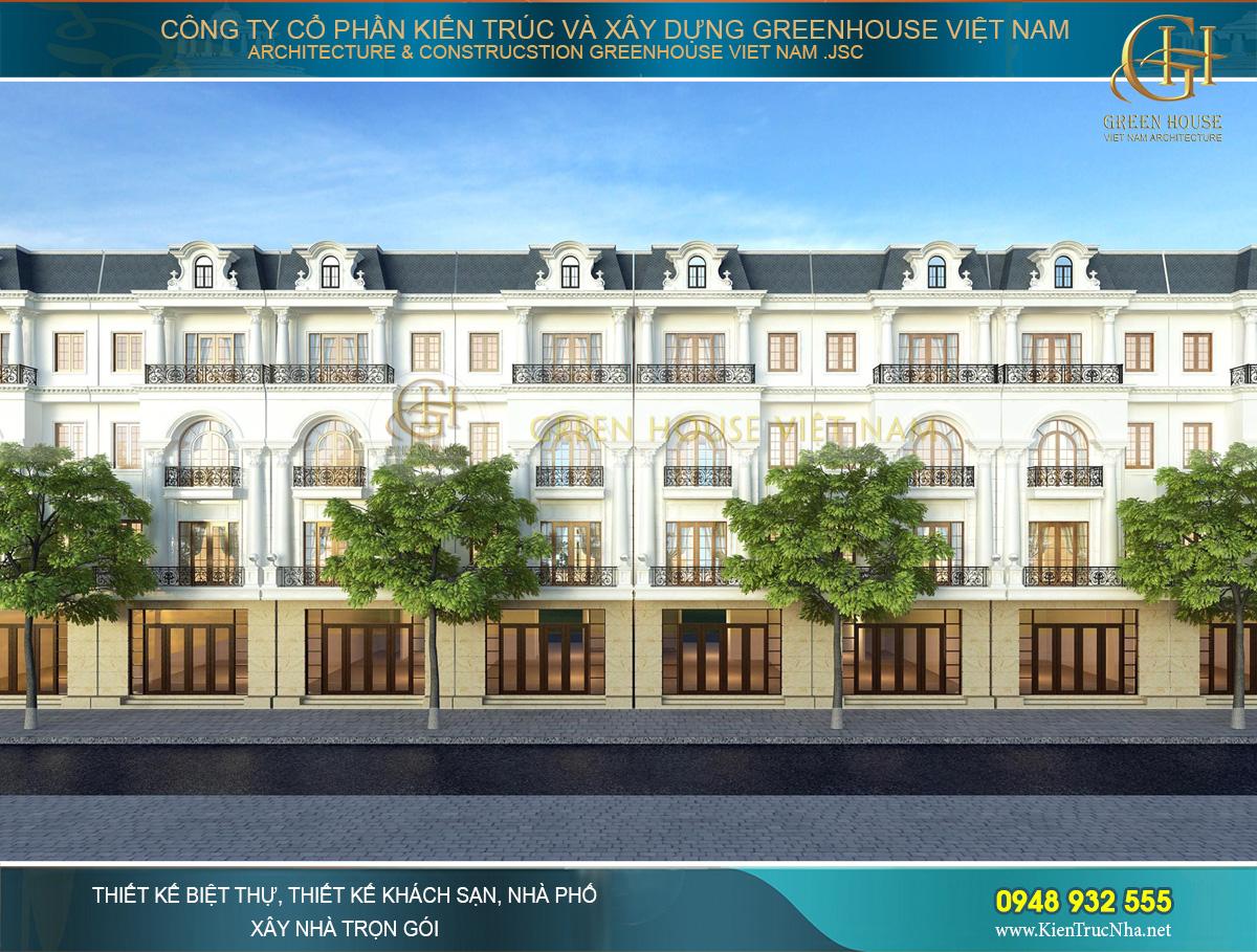 Thiết kế khu phố thương mại tân cổ điển 5 tầng