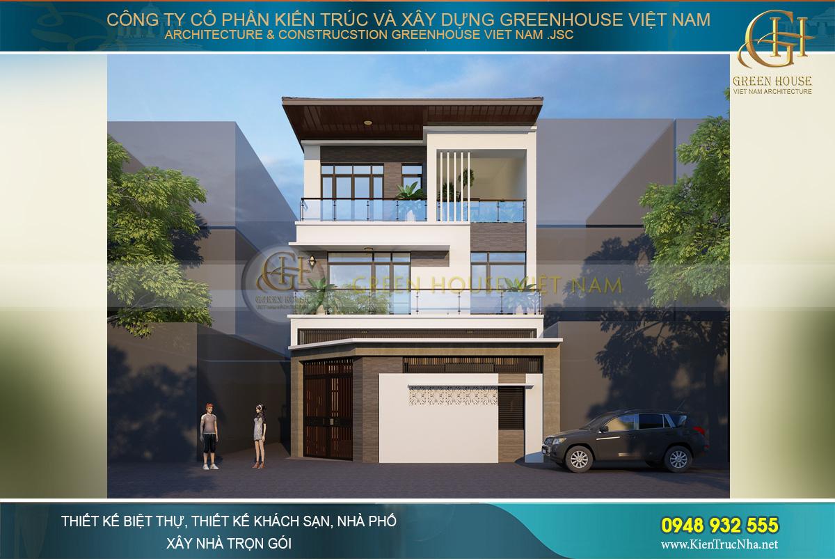 thiết kế nhà phố giả biệt thự 3 tầng diện tích 150m2