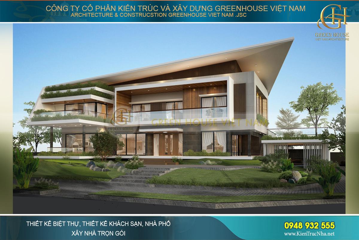 thiết kế biệt thự nghỉ dưỡng hiện đại 2 tầng đẳng cấp tại Bắc Giang