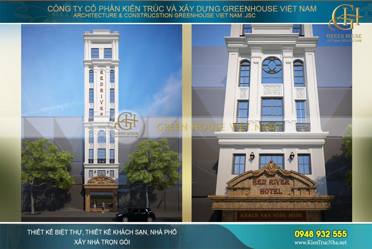 Thiết kế khách sạn mini 8 tầng 5,5mx10m