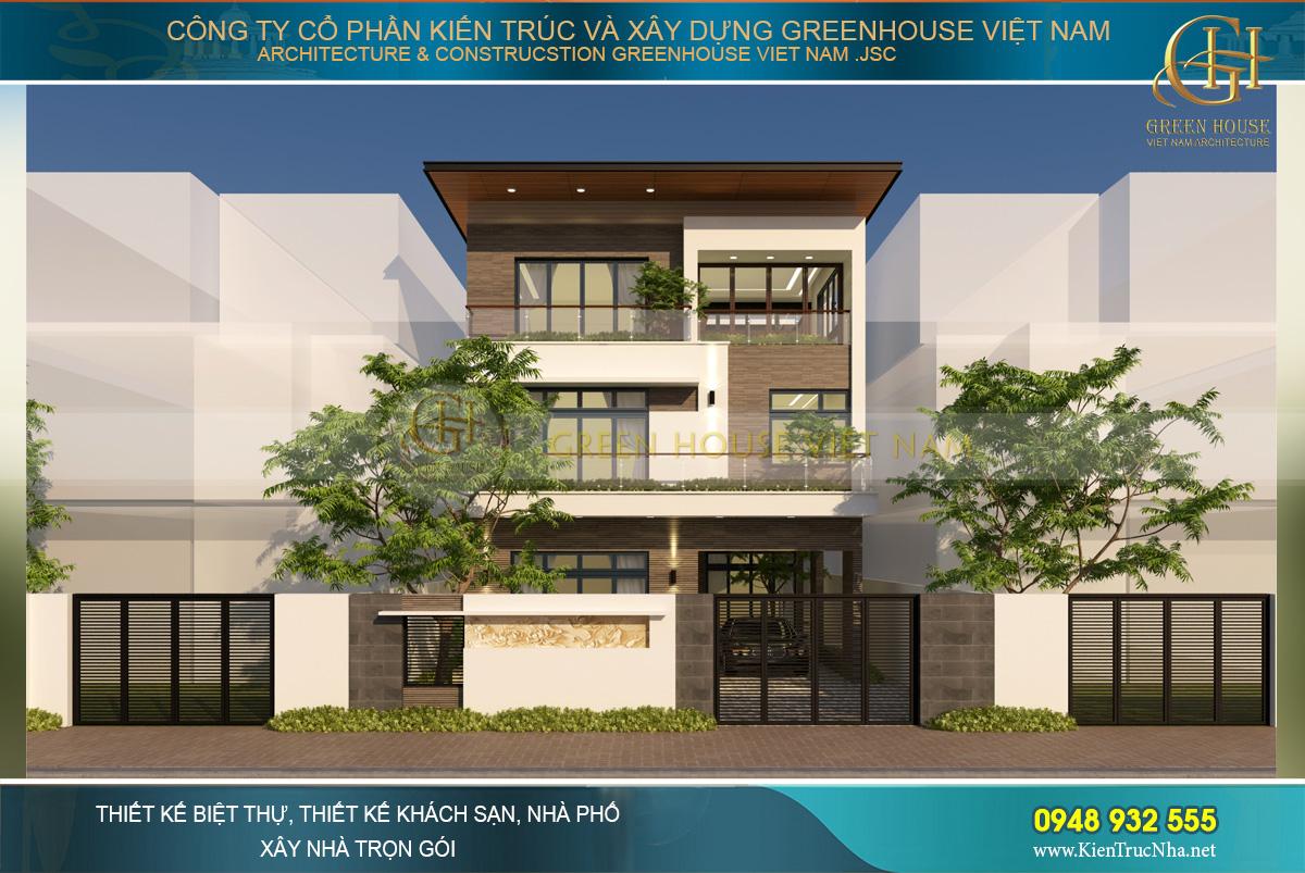 Thiết kế biệt thự hiện đại 3 tầng diện tích 290m2